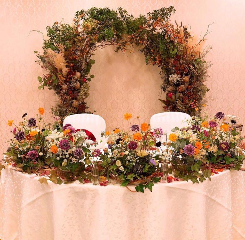 wedding 会場装花